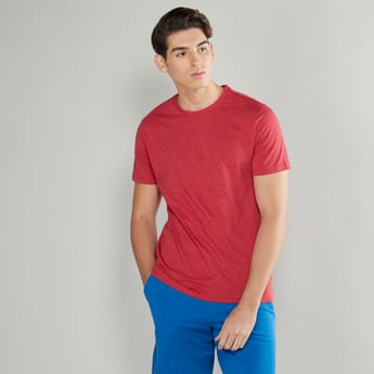 Solid T-shirt with Short Sleeves