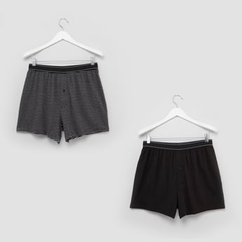 Set of 2 - Boxer Briefs with Button Closure