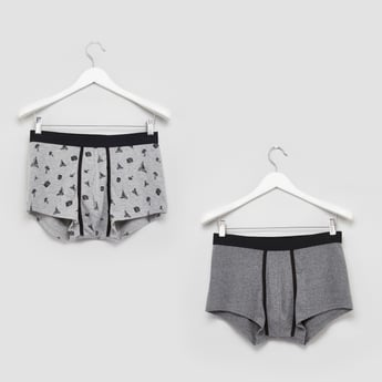 Set of 2 - Printed Trunks