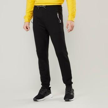 Slim Fit Full Length Plain Mid-Rise Jog Pants with Pocket Detail