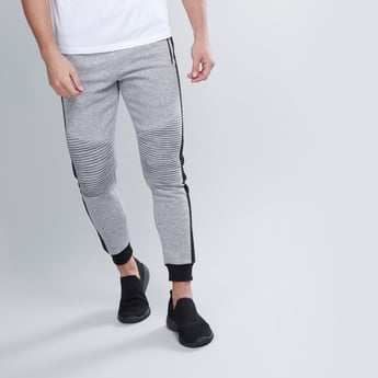 Textured Jog Pants with Elasticised Waistband and Pocket Detail