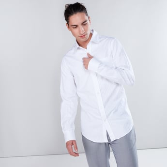 Long Sleeves Formal Dobby Shirt in Slim Fit