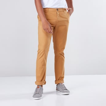 Pocket Detail Full Length Chinos in Slim Fit