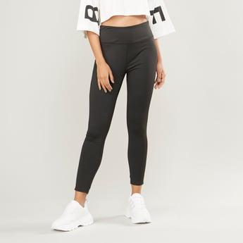 Slim Fit Plain Leggings with Elasticised Waistband