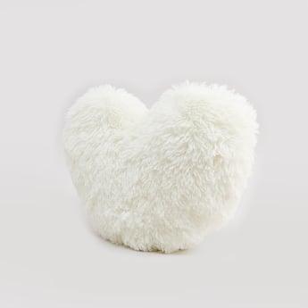 Textured Heart Filled Cushion - 46x38 cms