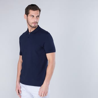 Polo Neck T-Shirt with Short Sleeves