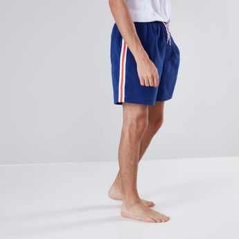 Side Tape Mid-Rise Short with Drawstring Closure