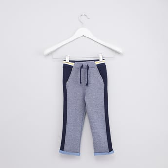 Striped Jog Pants with Elasticised Waistband and Pocket Detail