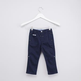 Plain Pants with Belt Loops and Pocket Detail