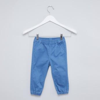 Plain Jog Pants with Elasticised Waistband and Pocket Detail