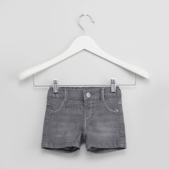 Denim Shorts with Whiskers