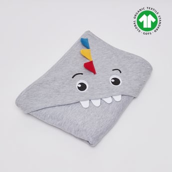 Dinosaur Print GOTS Organic Cotton Blanket with Hood