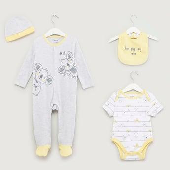 Koala Printed 4-Piece Clothing Set