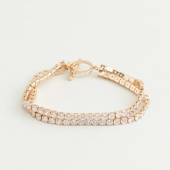 Studded Bracelet with Toggle Clasp