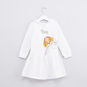 Paw Patrol Printed Hooded Dress