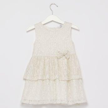 Textured Sleeveless Layered Dress