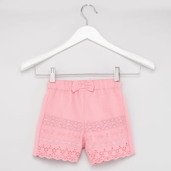 Shiffley Embroidered Shorts with Elasticated Waistband
