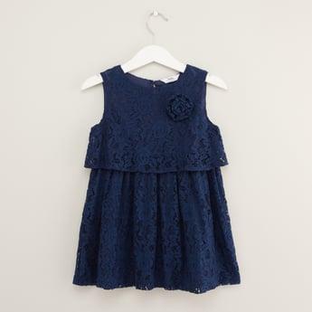 Lace Detail Layered Sleeveless Dress