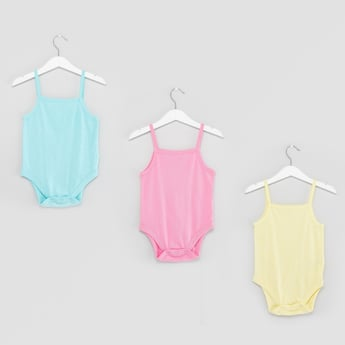 Set of 3 - Textured Sleeveless Bodysuit