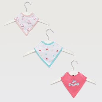 Set of 3 - Printed Bibs with Button Closure