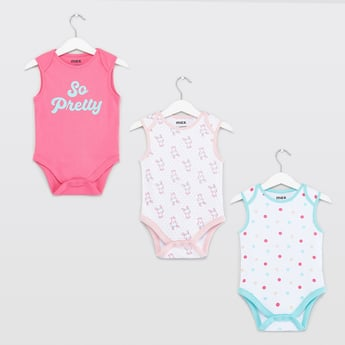 Set of 3 - Assorted Print Sleeveless Bodysuit