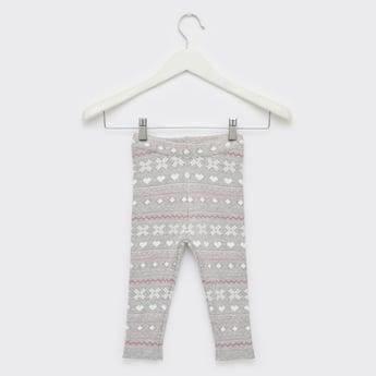 Knitted Full Length Leggings with Elasticated Waistband