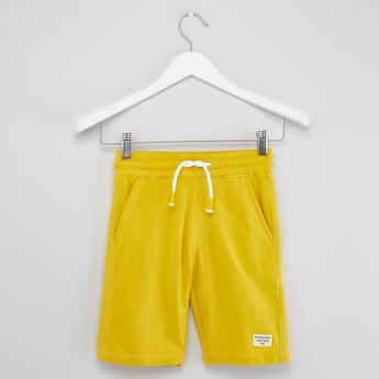 Solid Shorts with Pockets and Drawstring Closure