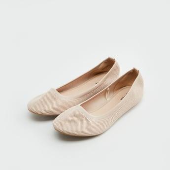 Textured Ballerina Flats
