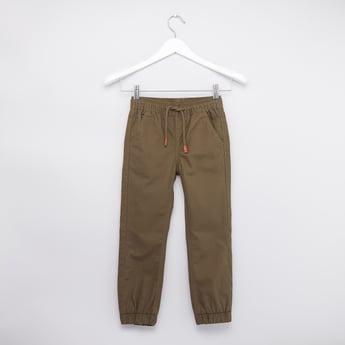Plain Jog Pants with Pocket Detail and Elasticised Waistband