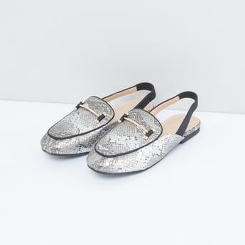 Textured Slingback Sandals