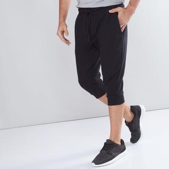 Pocket Detail 3/4 Jog Pants with Elasticised Waistband