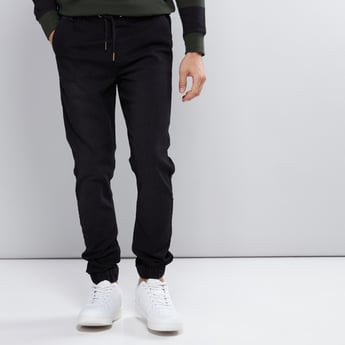 Full Length Jog Pants with Elasticised Waisband and Pocket Detail