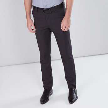 Chequered Full Length Trousers with Pocket Detail