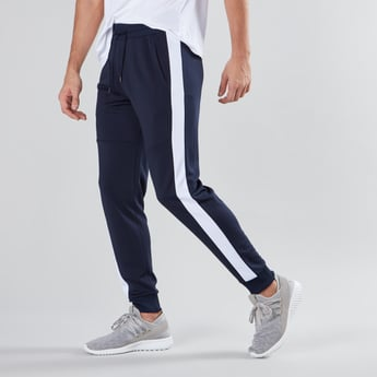 Plain Jog Pants with Pocket Detail and Drawstring