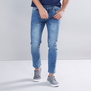 Full Length Skinny Fit Jeans with Pocket Detail