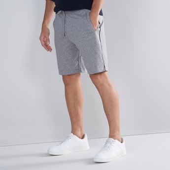 Textured Shorts with Drawstring Closure