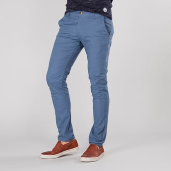 Plain Chinos with Pocket Detail and Belt Loops