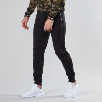 Slim Fit Printed Mid Rise Jog Pants with Pocket Detail