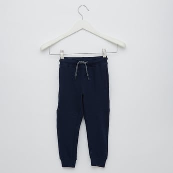 Full Length Panelled Joggers with Drawstring Waist and Pockets