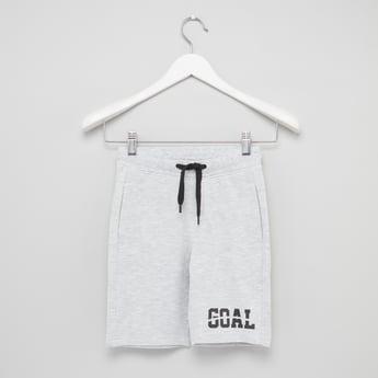Printed Shorts with Pockets and Drawstring Closure