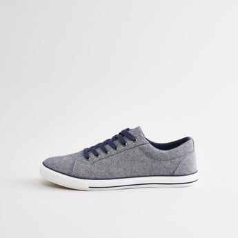 Textured Lace Up Canvas Shoes