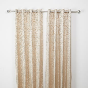 Jacquard Curtain Pair with Eyelets - 240 x 135