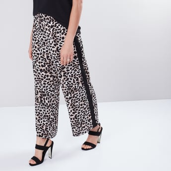 Printed Palazzos with Side Tape Detail