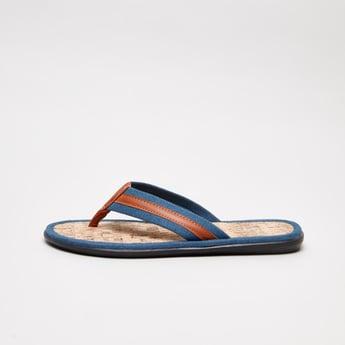 Striped Slip-On Sandals