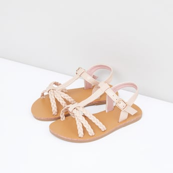 Ankle Strap Sandals with Buckle Fastening
