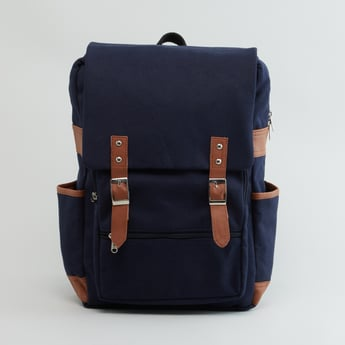 Backpack with Top Flap and Adjustable Straps