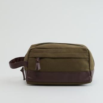 حقيبة صغيرة بارزة الملمس بسحّاب إغلاق
