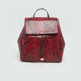 حقيبة ظهر بارزة الملمس مع أحزمة  قابلة للتعديل