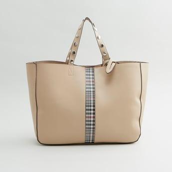 Embellished Handbag with Detachable Shoulder Strap
