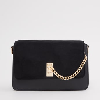 Plain Crossbody Bag with Detachable Strap